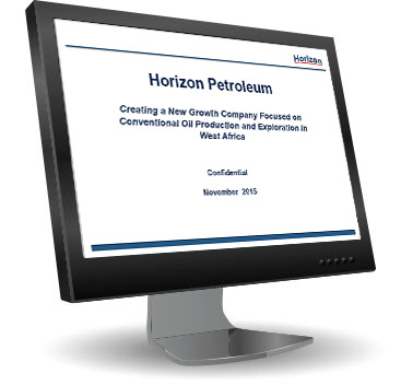 computer with presentation image